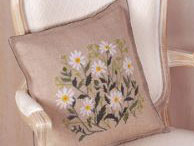 click here to view larger image of Daisy Pillow (counted cross stitch kit)