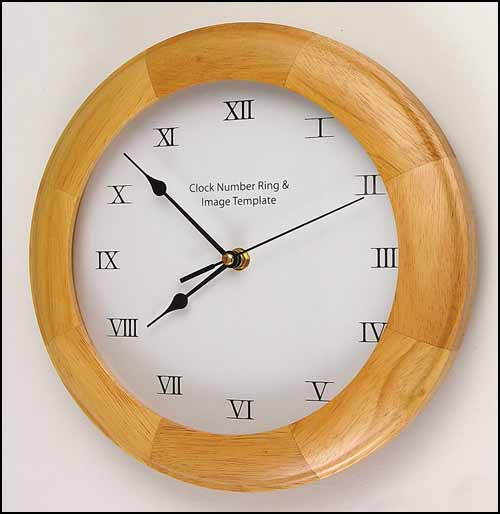 click here to view larger image of Oak Wall Clock (stitchable)