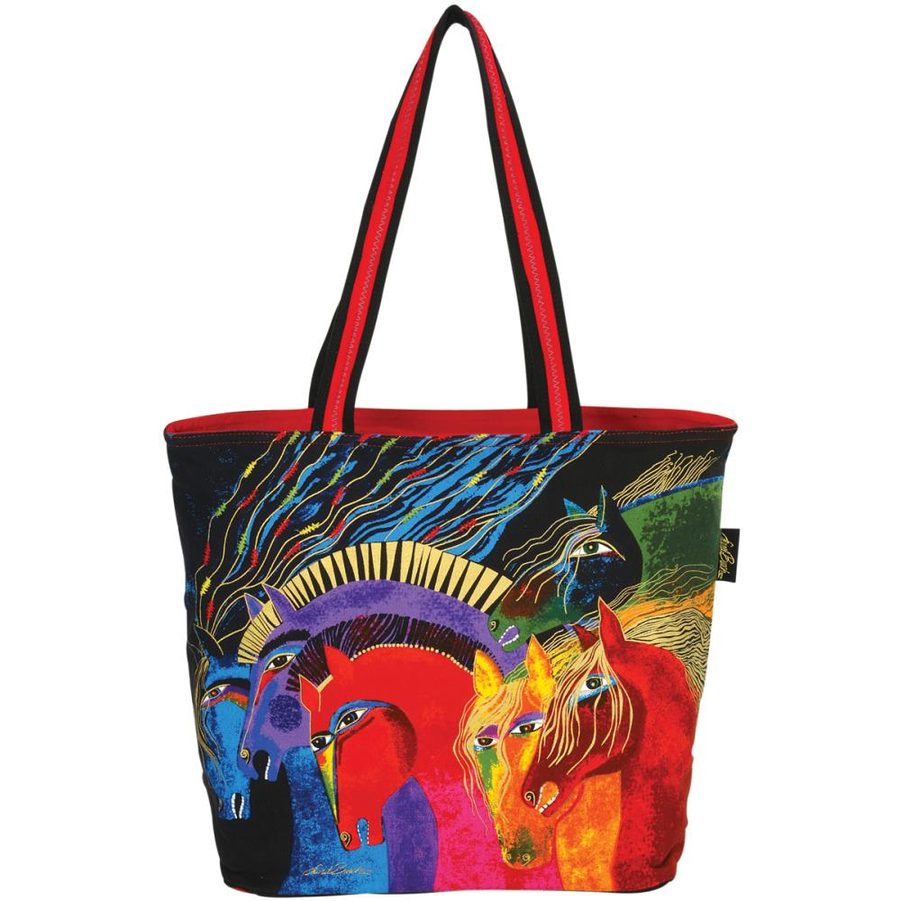 click here to view larger image of Wild Horses of FIre Shoulder Tote Zipper Top (accessory)