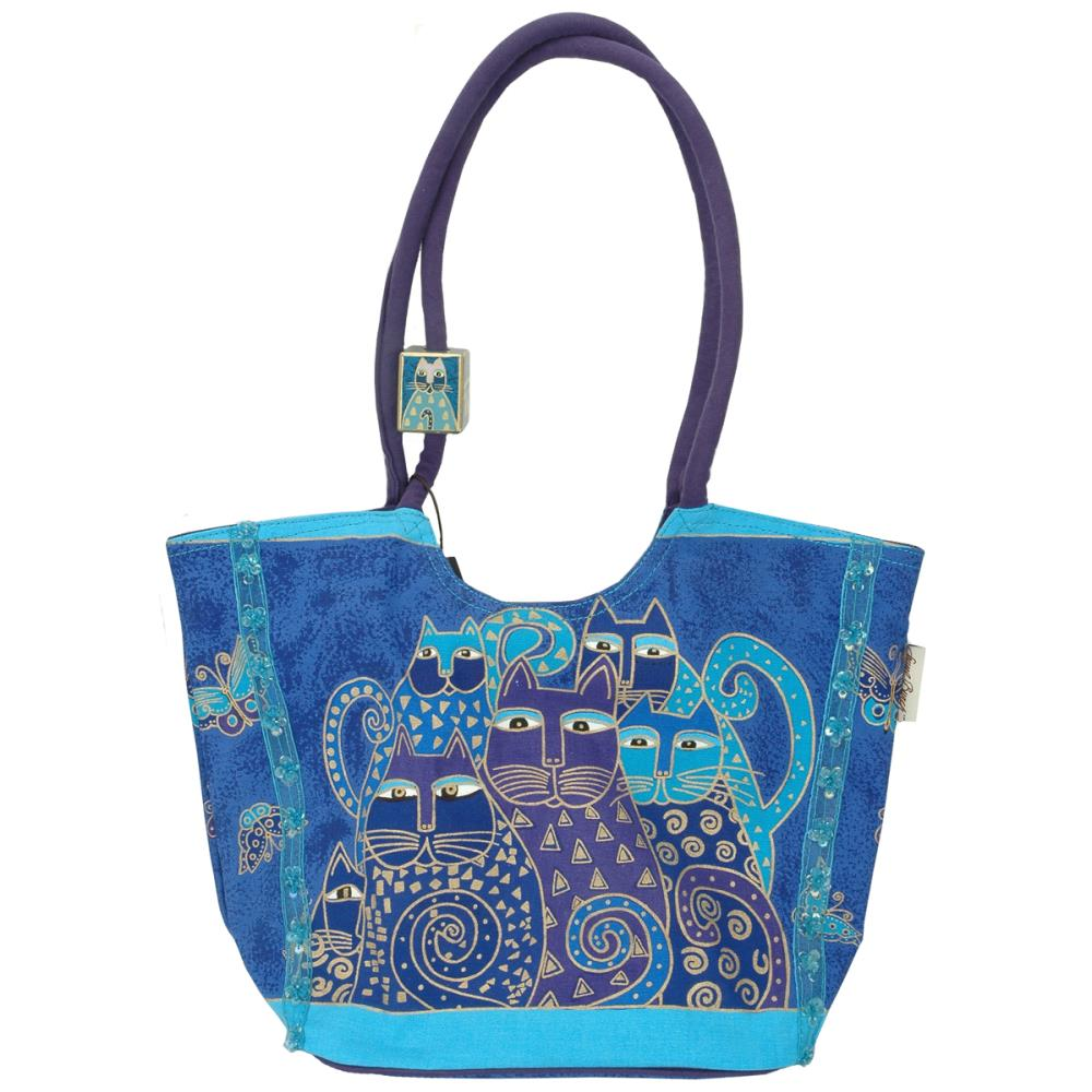 click here to view larger image of Indigo Cats - Scoop Tote Zipper Top (accessory)