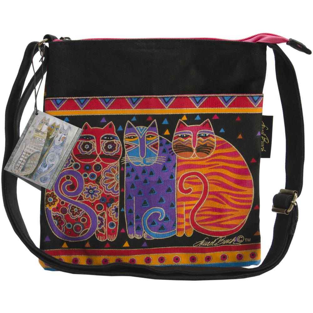 click here to view larger image of Feline Friends - Crossbody Purse Zipper Top (accessory)
