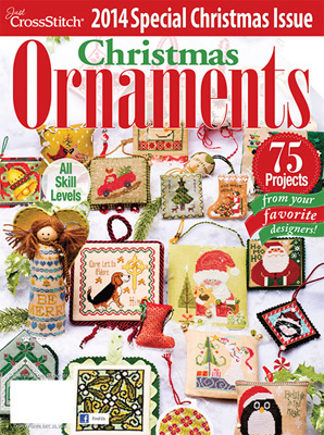 click here to view larger image of Just Cross Stitch - 2014 Christmas Ornaments (magazines)