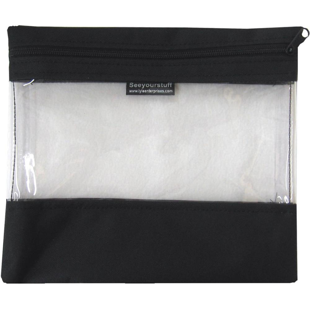 click here to view larger image of Seeyourstuff 10x11 - Clear Storage Bag - Black (accessory)