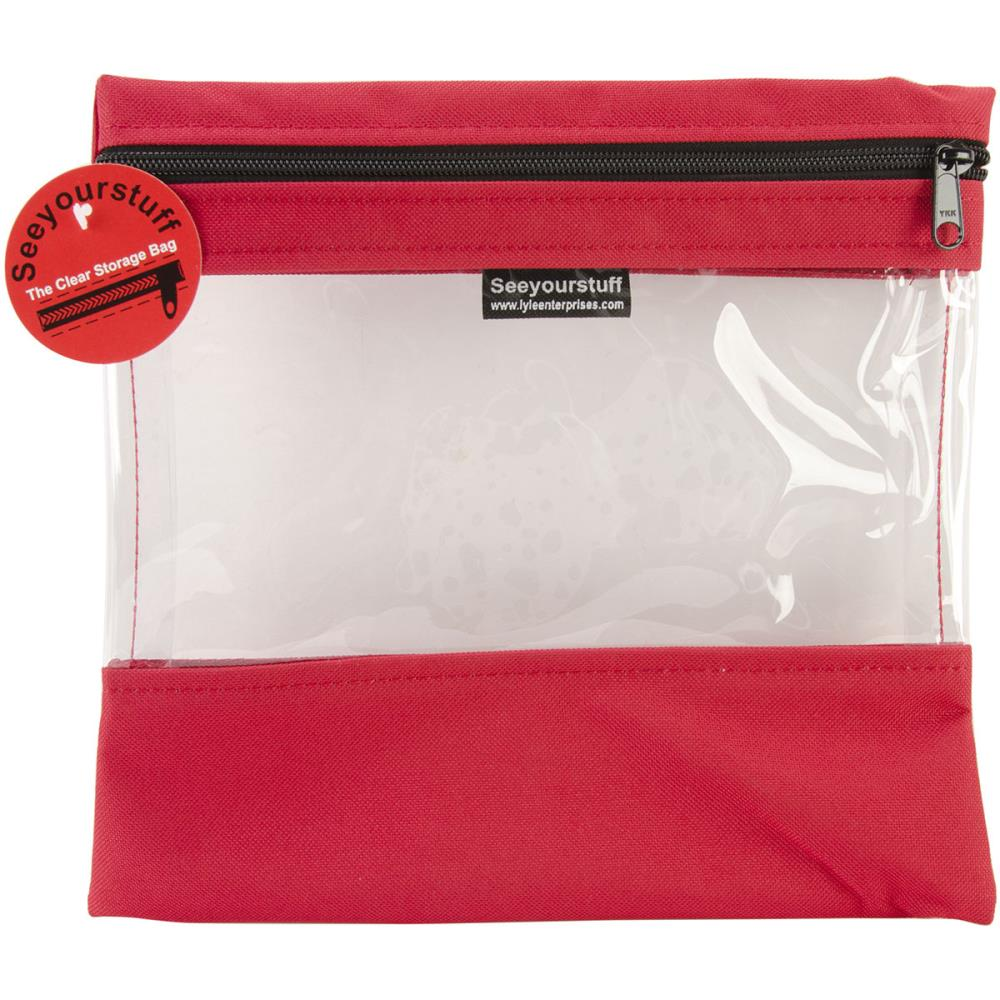 click here to view larger image of Seeyourstuff 10x11 - Clear Storage Bag - Red (accessory)