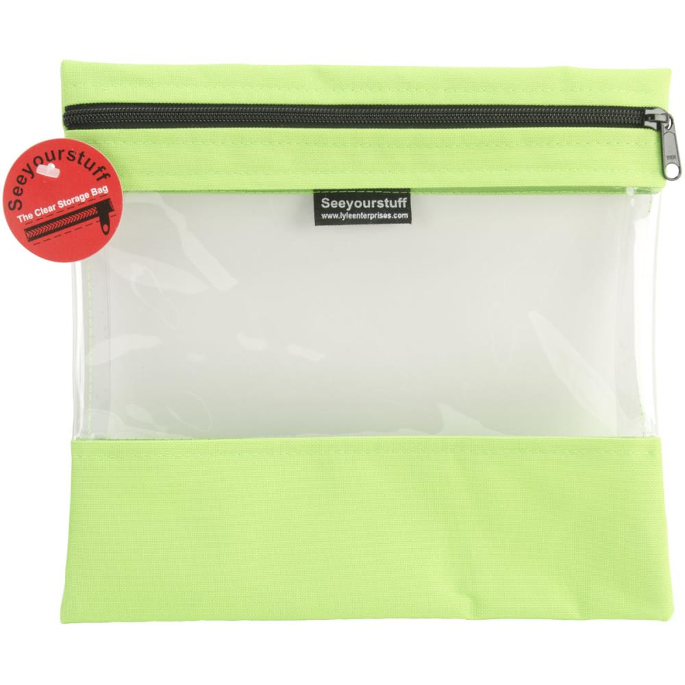 click here to view larger image of Seeyourstuff 10x11 - Clear Storage Bag - Lime (accessory)