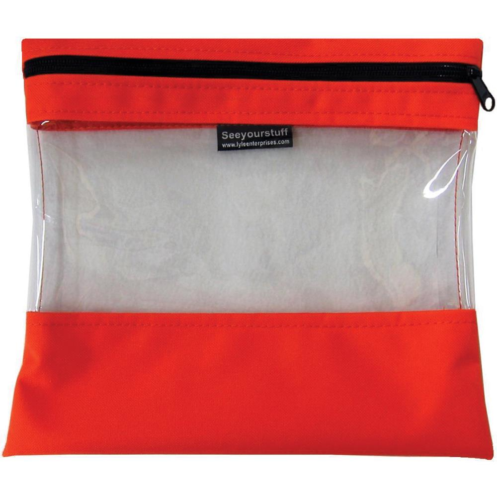 click here to view larger image of Seeyourstuff 10x11 - Clear Storage Bag -Tangerine (accessory)