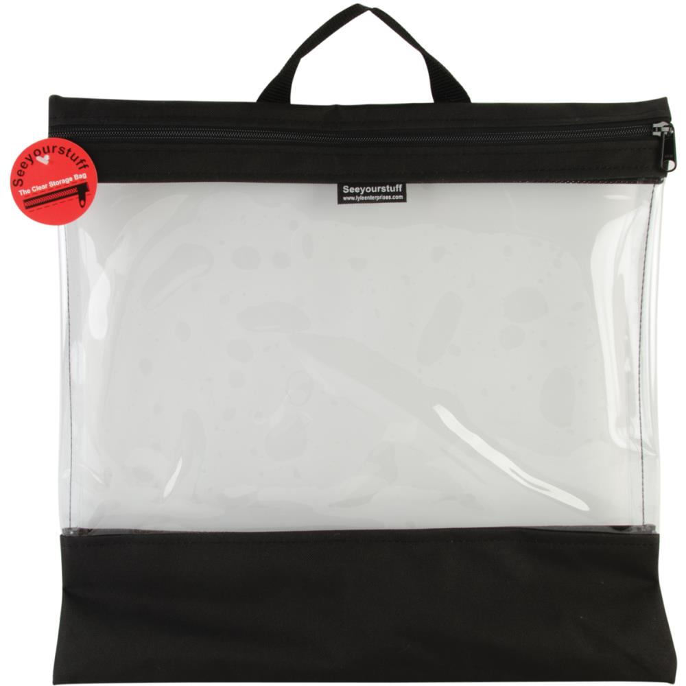 click here to view larger image of Seeyourstuff 16x16 - clear storage bag - Black (accessory)