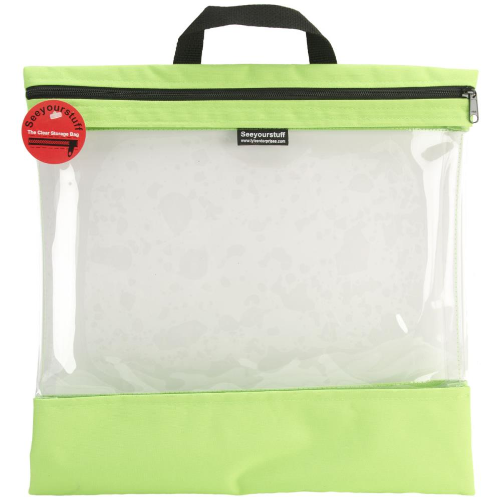 click here to view larger image of Seeyourstuff 16x16 - clear storage bag - Lime (accessory)