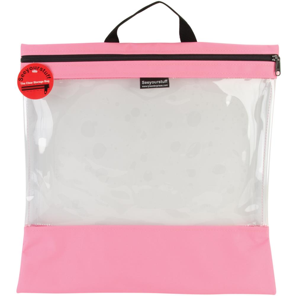 click here to view larger image of Seeyourstuff 16x16 - clear storage bag - Pink (accessory)