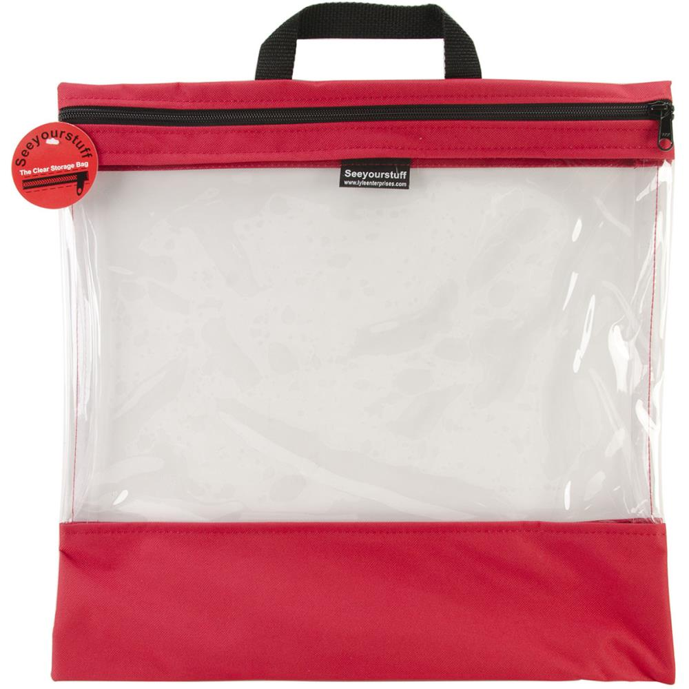 click here to view larger image of Seeyourstuff 16x16 - clear storage bag - Red (accessory)