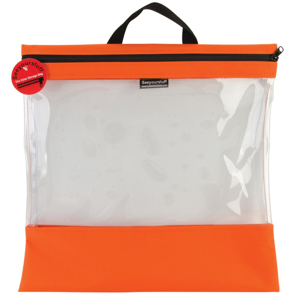 click here to view larger image of Seeyourstuff 16x16 - clear storage bag - Tangerine (accessory)