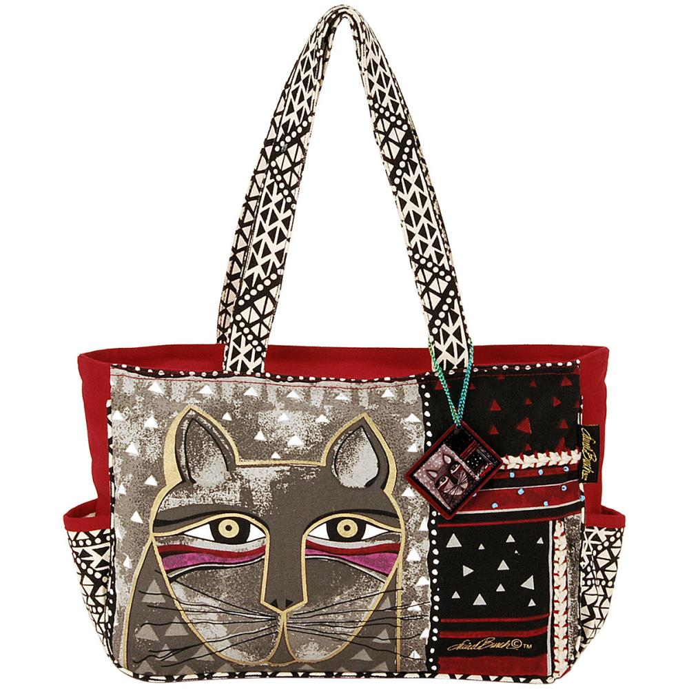 click here to view larger image of Whiskered Cat - Medium Tote Zipper Top (accessory)