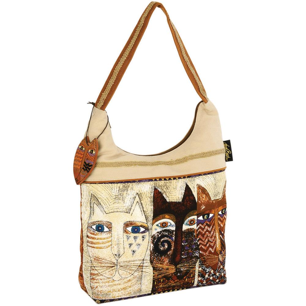 click here to view larger image of Ancestral Cats - Scoop Tote Zipper Top (accessory)