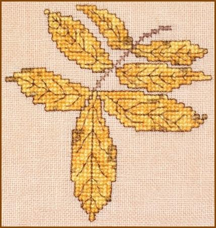 click here to view larger image of Autumn Leaves Wall Quilt Block O (chart)