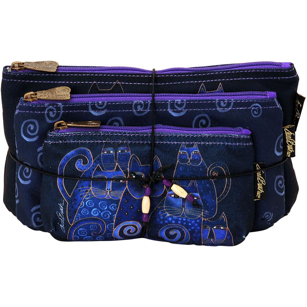 click here to view larger image of Indigo Cats - Cosmetic Bag Set of Three (accessory)