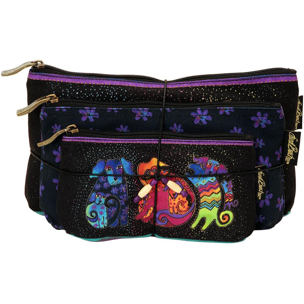 click here to view larger image of Dog and Doggies - Cosmetic Bag Set of Three (accessory)