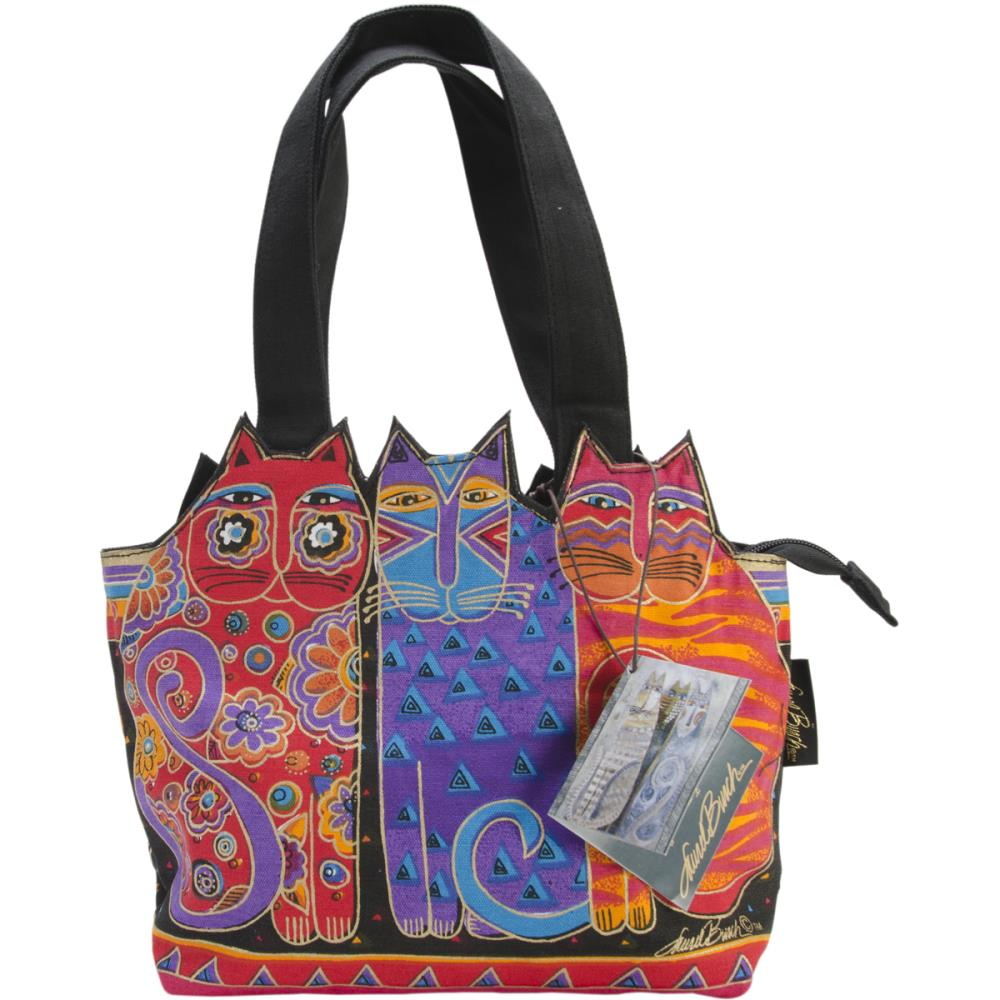 click here to view larger image of Tres Gatos - Red/Orange/Blue - Medium Tote Zipper Top (accessory)