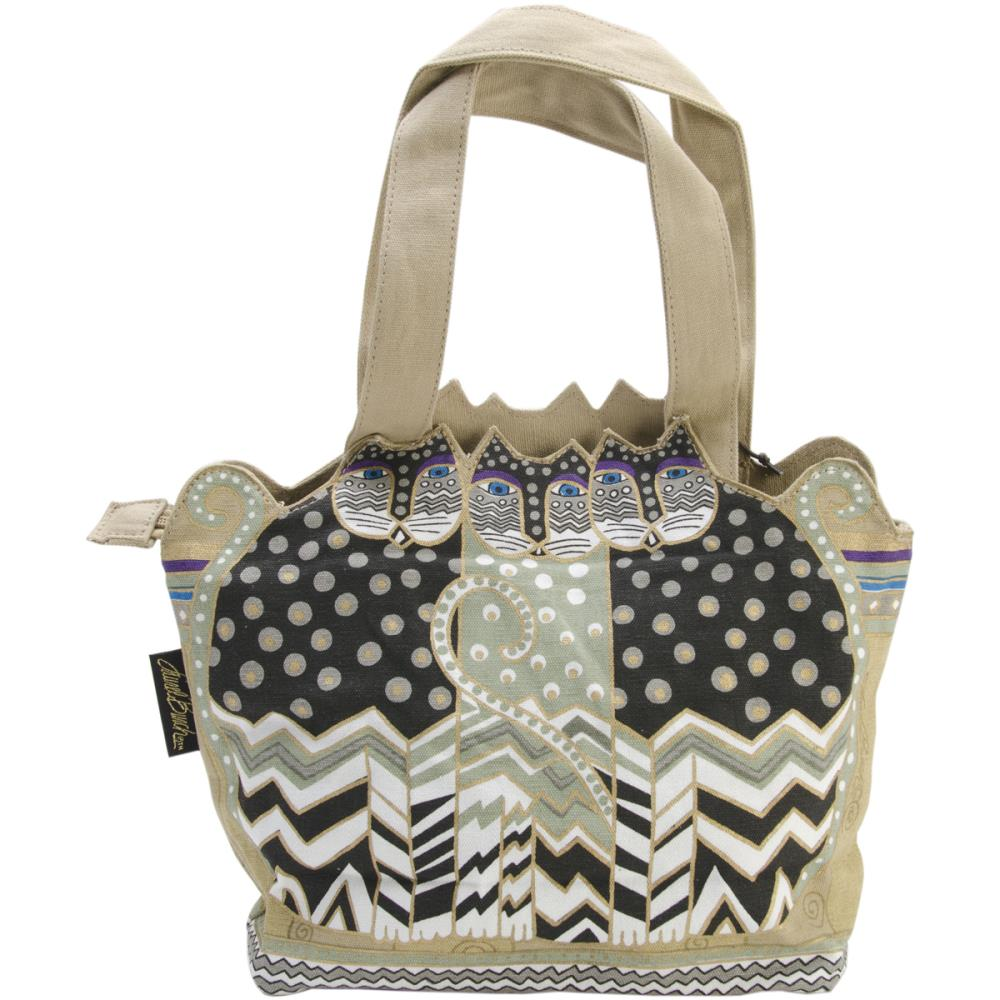 click here to view larger image of Tres Gatos - Black/White/Gray - Medium Tote Zipper Top (accessory)