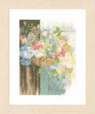 click here to view larger image of Flower Basket (counted cross stitch kit)