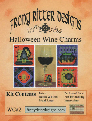 click here to view larger image of Halloween Wine Charms Kits (counted cross stitch kit)