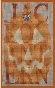 click here to view larger image of Jack O Lantern - Shadow (chart with charms/buttons)