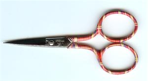 click here to view larger image of Premax 3.5in Embroidery Scissors (Tartan - Red) (accessory)