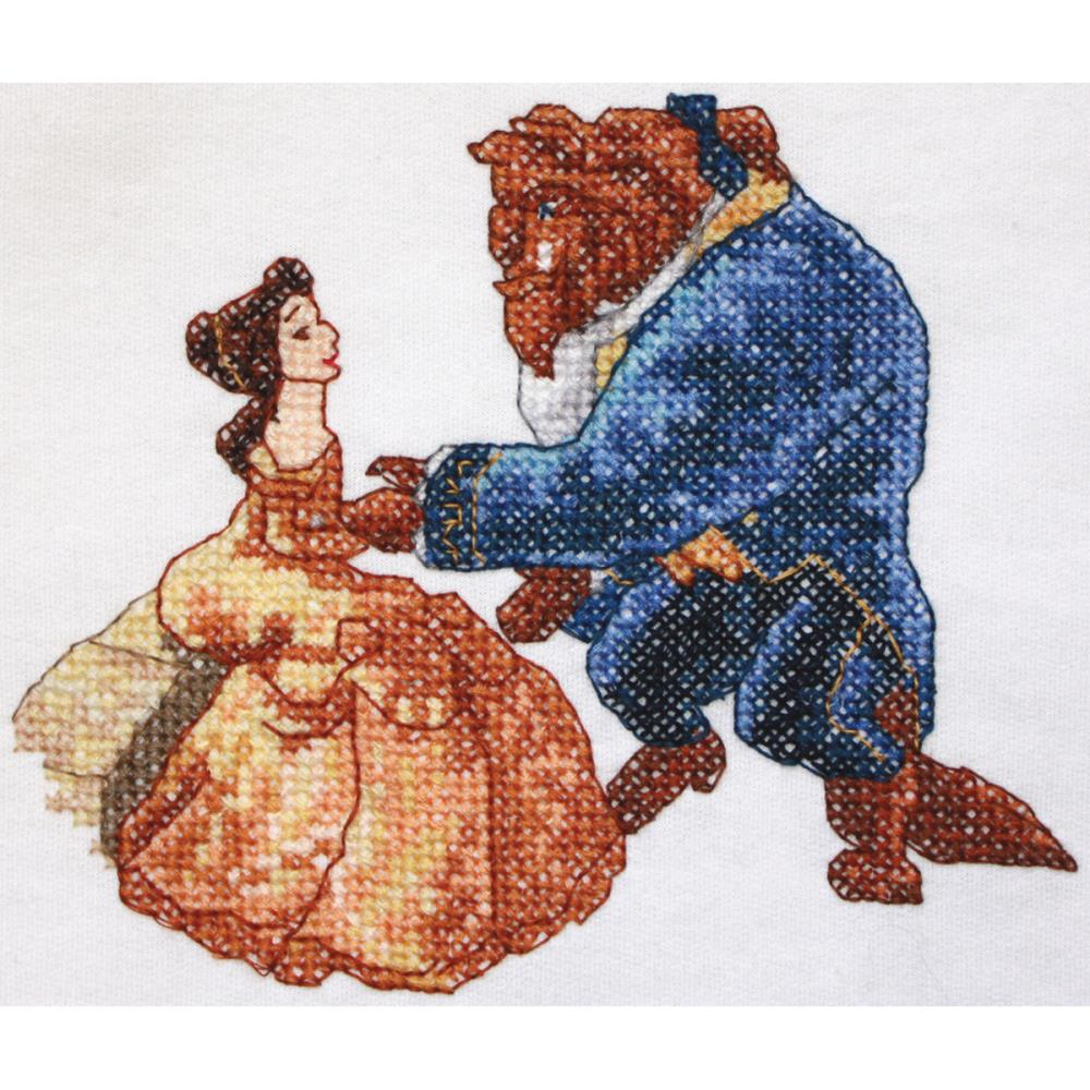 click here to view larger image of Beauty and Beast (counted cross stitch kit)