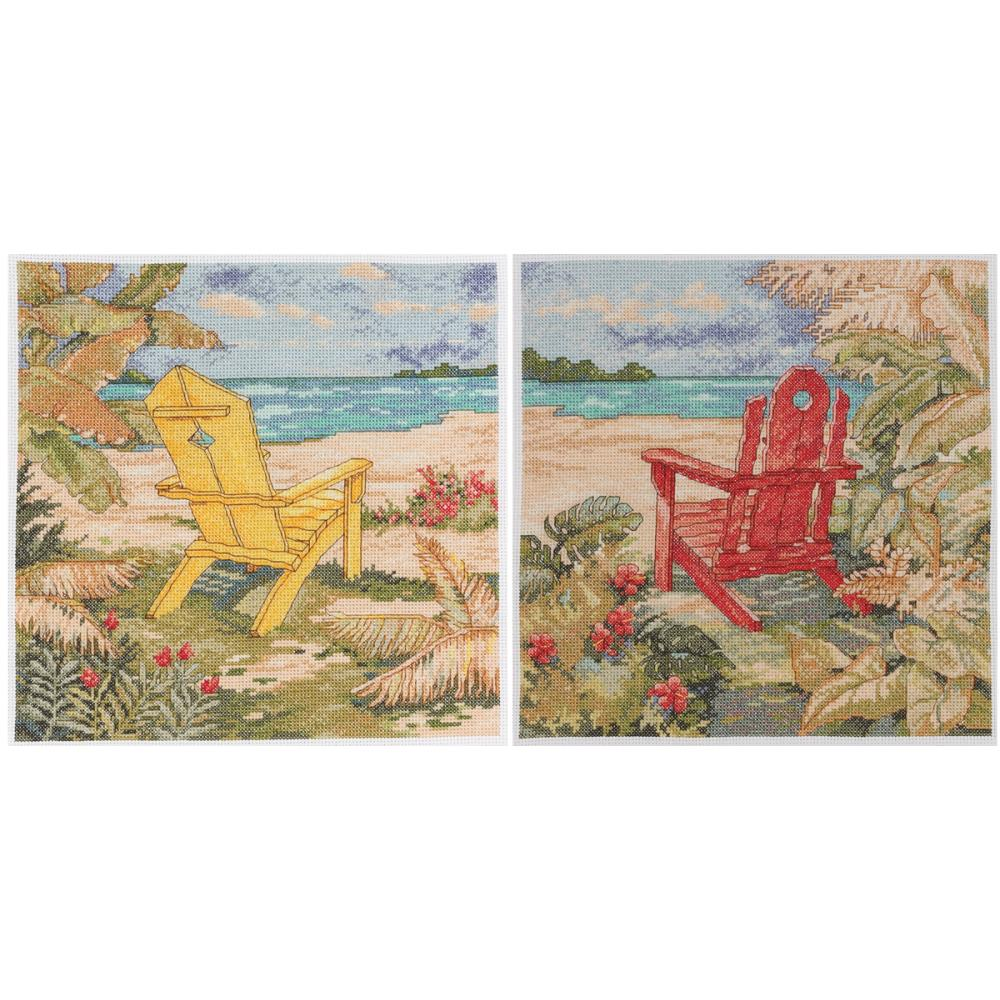 click here to view larger image of Beach Chair Duo (counted cross stitch kit)