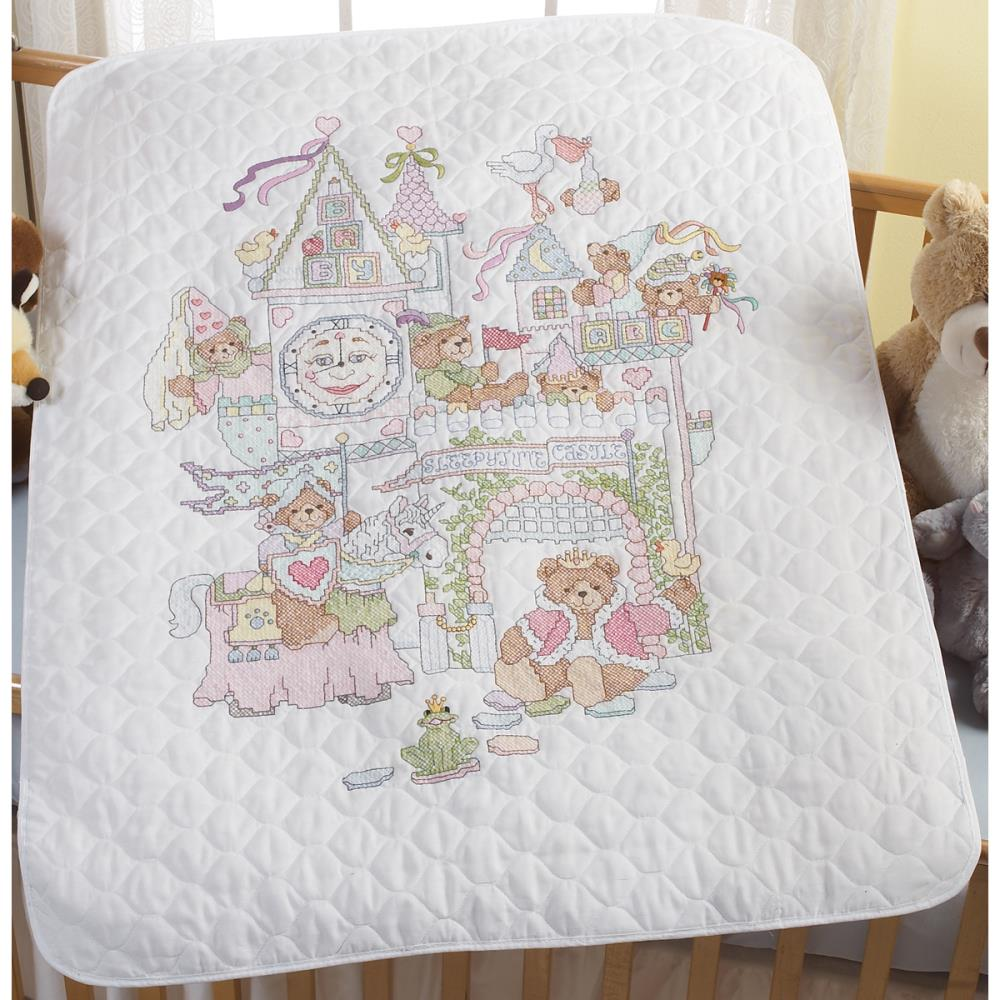 click here to view larger image of Fairy Tale Castle  Crib Cover - Stamped Cross Stitch (stamped cross stitch)