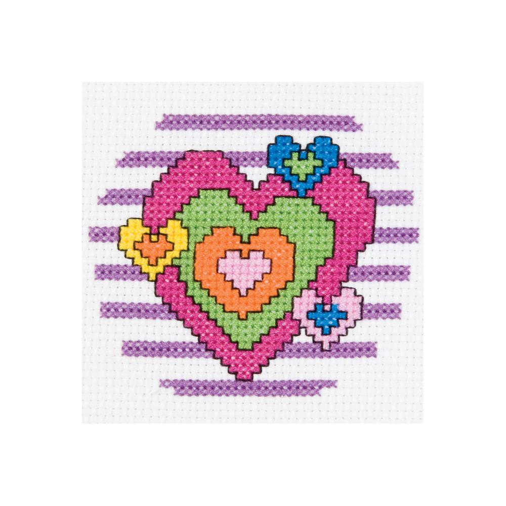 click here to view larger image of My 1st Stitch Heart - Mini kit (counted cross stitch kit)