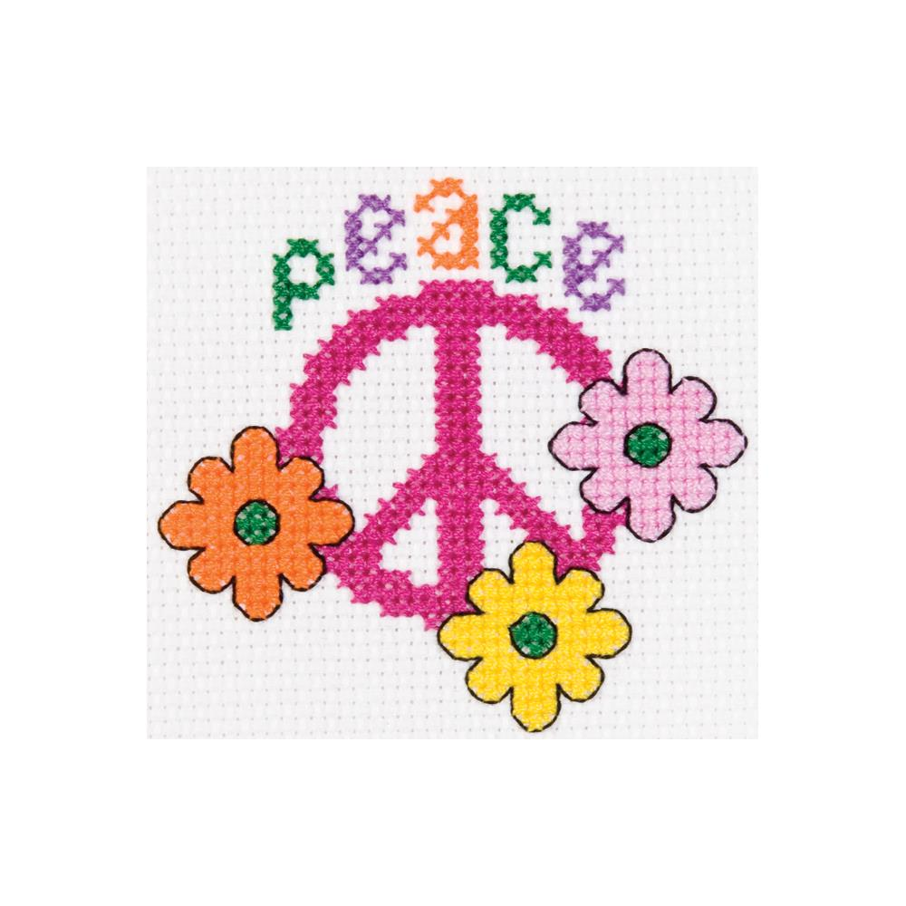 click here to view larger image of My 1st Stitch Peace - Mini Kit (counted cross stitch kit)