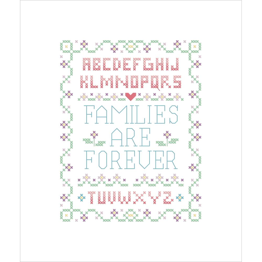 click here to view larger image of Families Are Forever - Stamped Cross Stitch (stamped cross stitch kit)