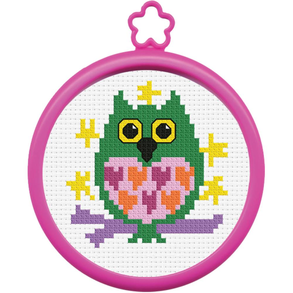 click here to view larger image of My 1st Stitch Owl - Mini Kit (counted cross stitch kit)