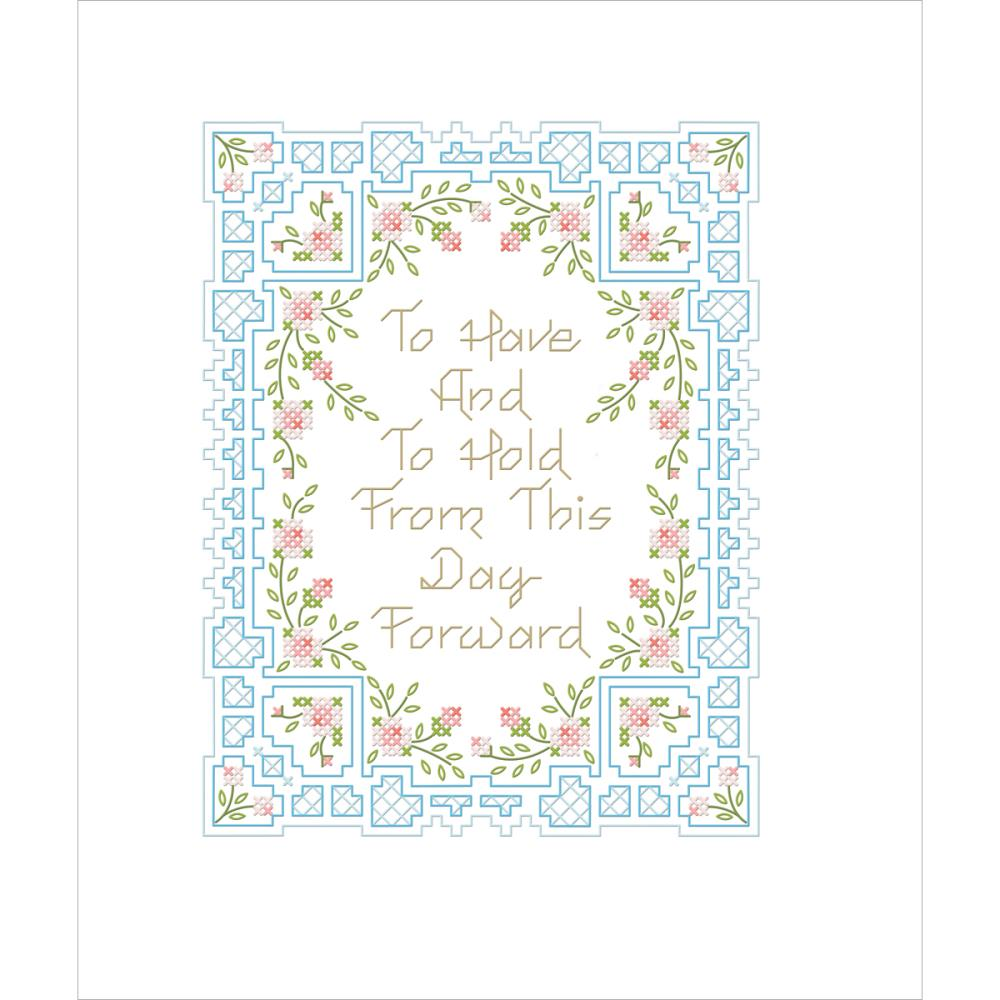 click here to view larger image of To Have and To Hold (stamped cross stitch kit)