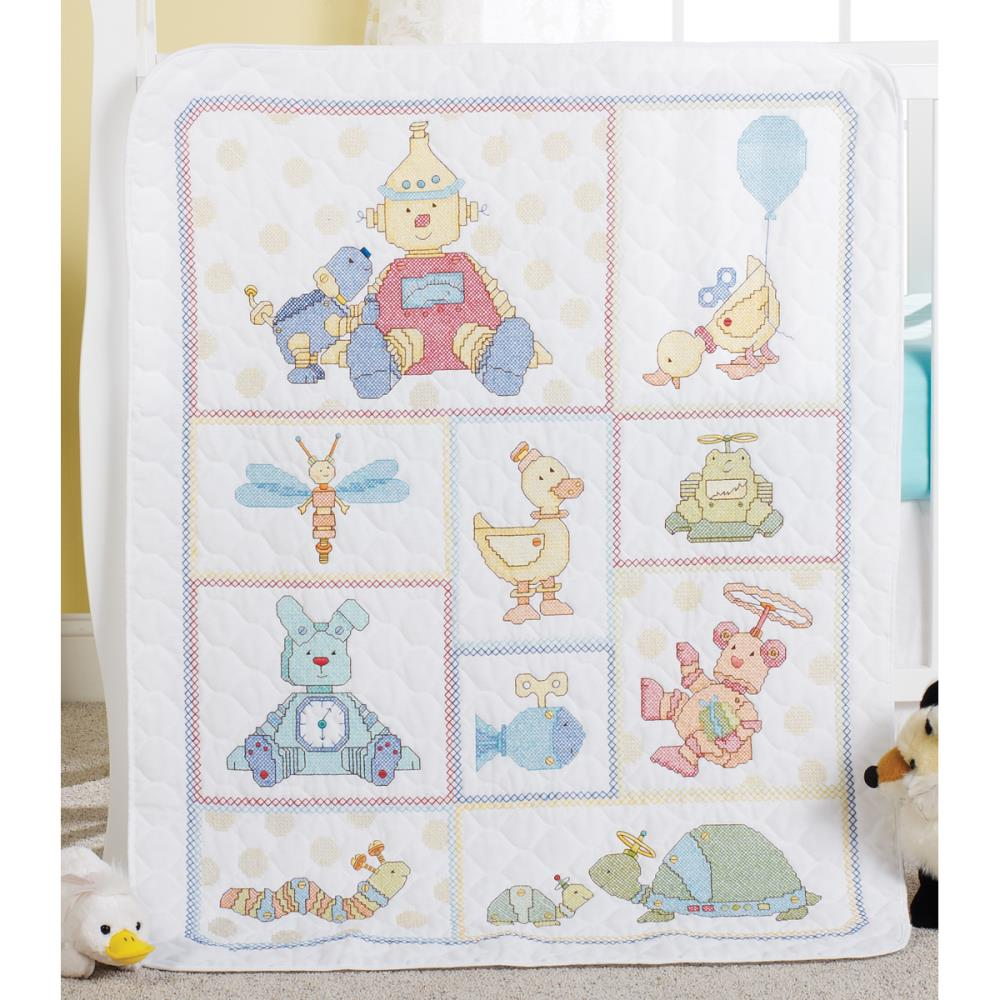 click here to view larger image of BOT Buddies Stamped Crib Cover (stamped crib cover)