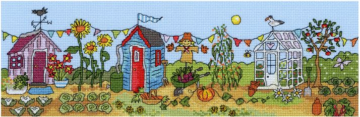 click here to view larger image of Allotment Fun (counted cross stitch kit)