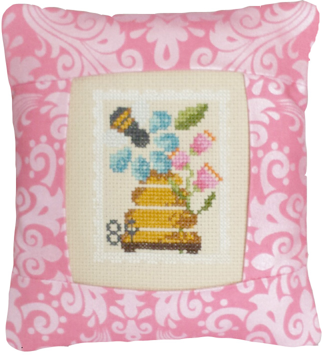 click here to view larger image of August Special Delivery - 8 cent stamp (Linen) (counted cross stitch kit)