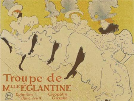 click here to view larger image of Troupe de Mlle Elegantine (Affiche) (chart)