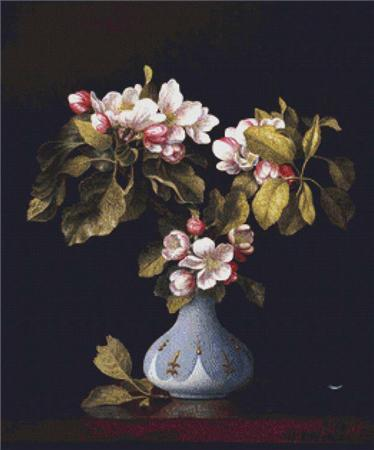click here to view larger image of Apple Blossoms in a Vase (chart)