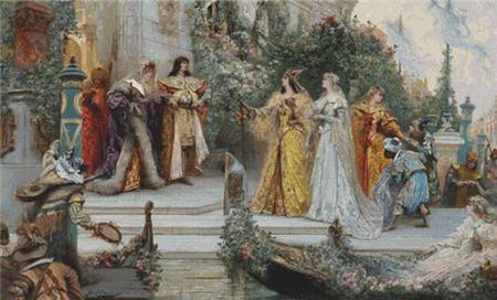 click here to view larger image of The Arrival of the Guests, Venice  (Georges Jules Victor Clairin) (chart)