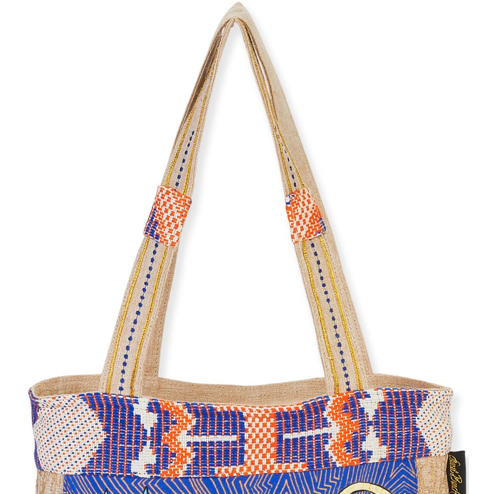 click here to view larger image of Folklorica Medium Tote - Zig Zag Gatos (accessory)
