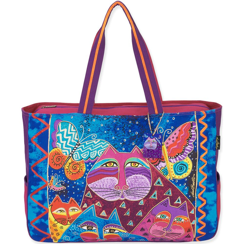 click here to view larger image of Cats with Butterflies Oversized Tote (accessory)