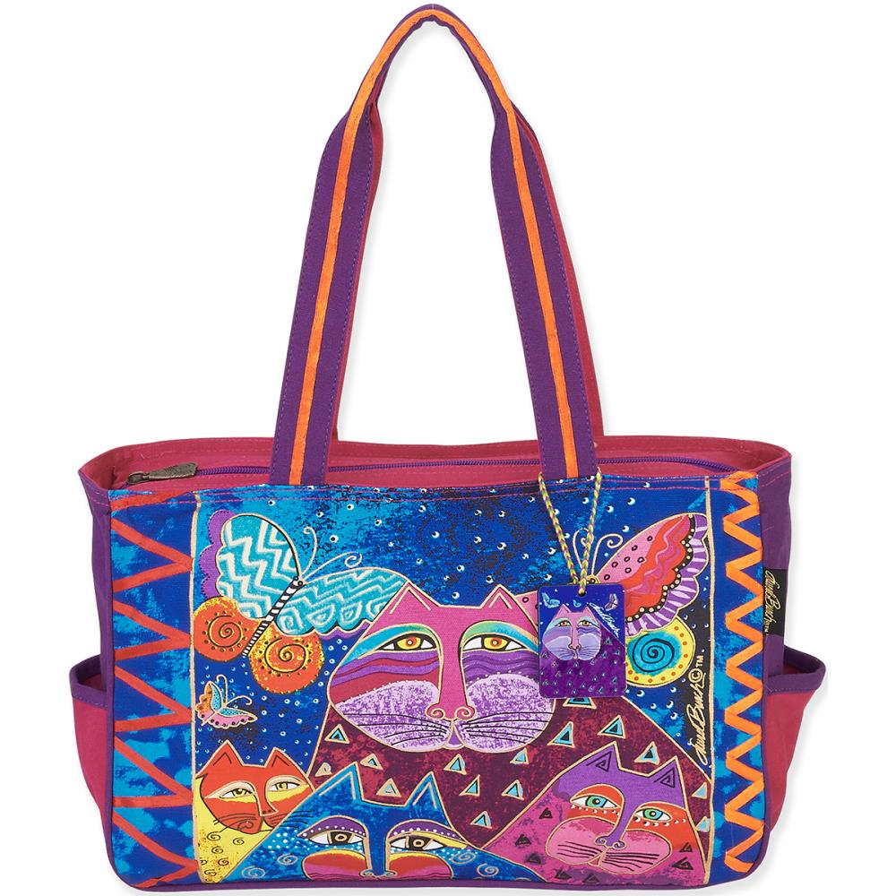 click here to view larger image of Cats With Butterflies Medium Tote (accessory)