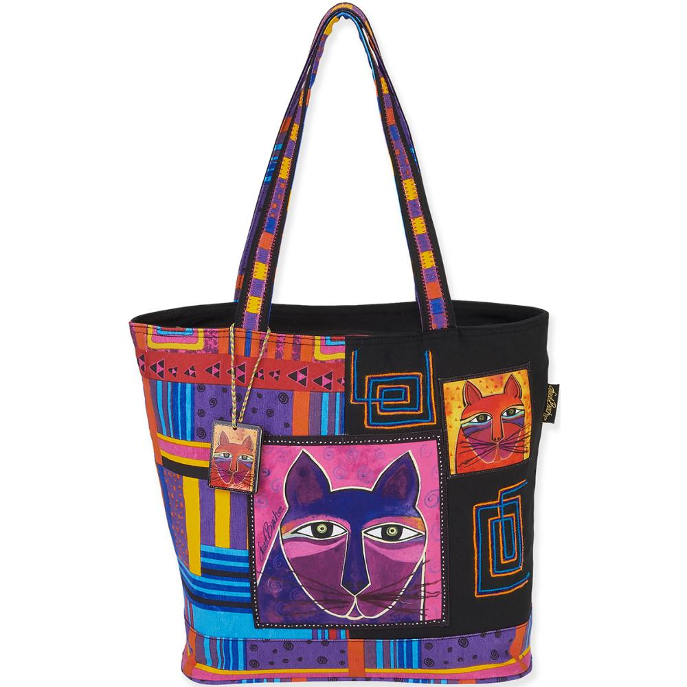 click here to view larger image of Whiskered Cats Shoulder Tote (accessory)