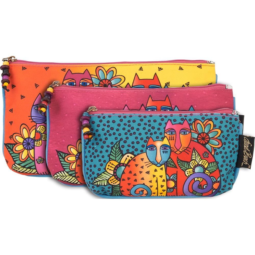click here to view larger image of Feline Clan - Cosmetic Bag Set of Three (accessory)