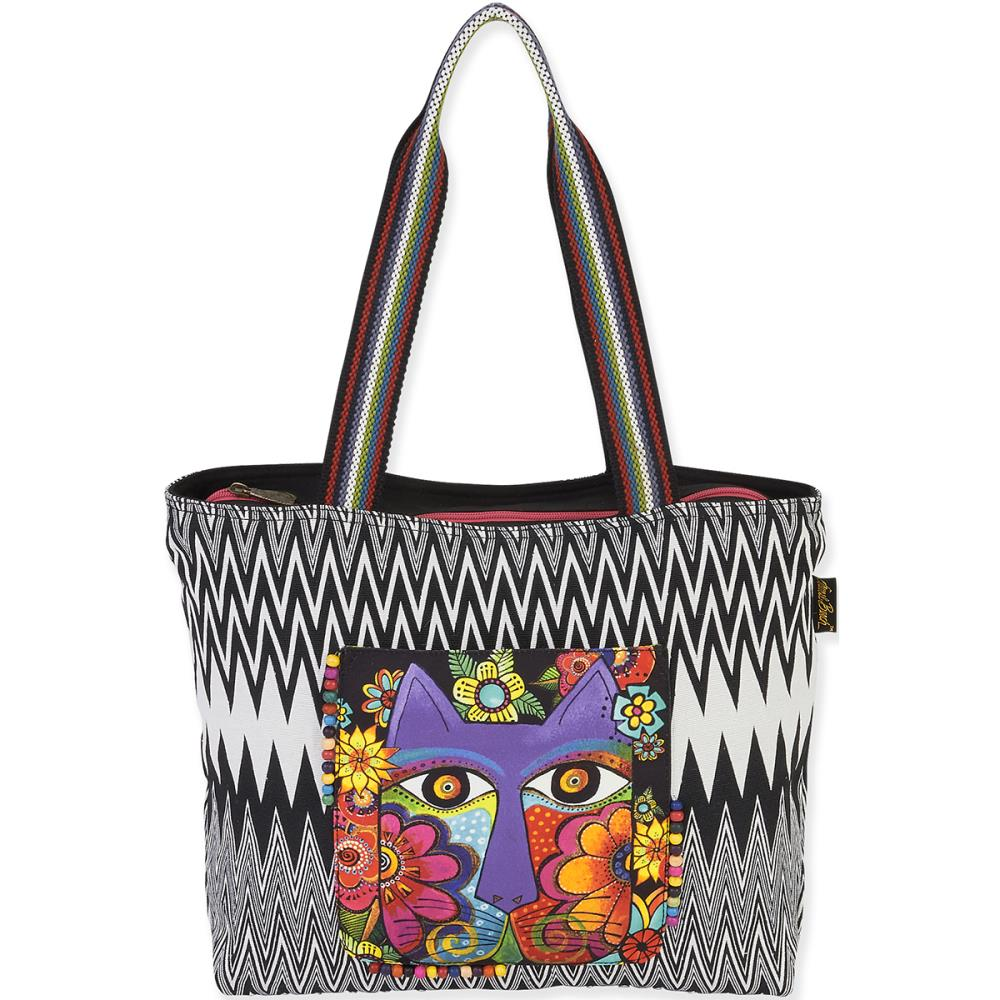 click here to view larger image of Blossoming Feline Shoulder Tote (accessory)