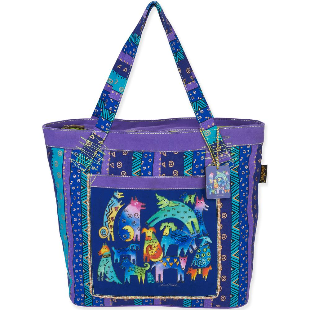click here to view larger image of Mythical Dogs Shoulder Tote (accessory)
