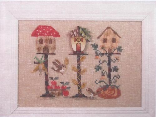 click here to view larger image of Autumn Birdhouse (chart with charms/buttons)