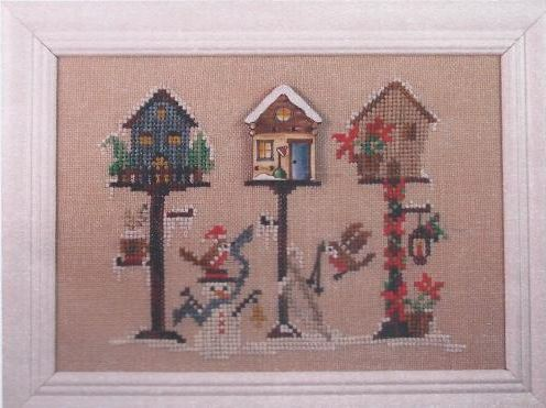 click here to view larger image of Winter Birdhouse (chart with charms/buttons)
