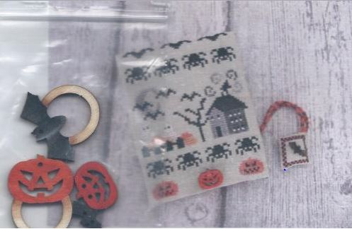 click here to view larger image of Halloween Midnight Sewing Set (chart)
